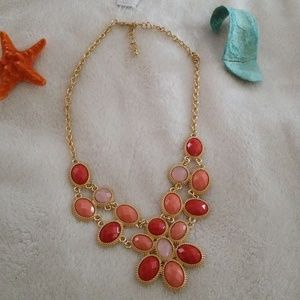 Charter Club  Gold-Tone Coral Bib Necklace